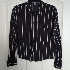 Stripped Button Top
